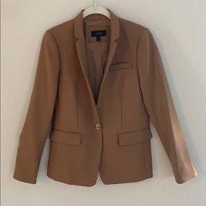 J. Crew Regent blazer in camel. Wool blend. Size 4